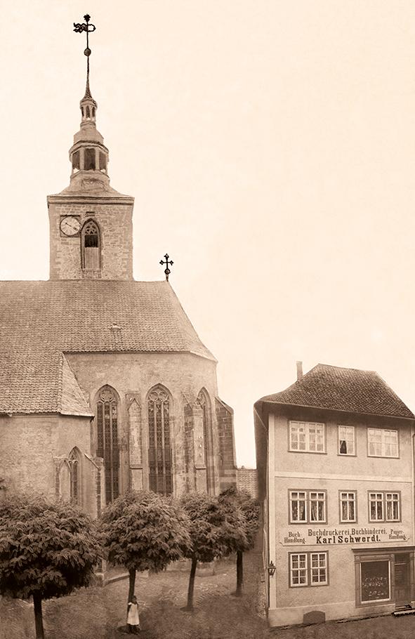 Buchdruckerei Karl Schwerdt, Fotoretusche um 1900